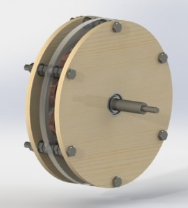 Axial Fluks Permanent Magnet Sinkron Generator